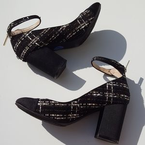 Unisa | Black Tweed Plaid Heels size 7.5 Shoes